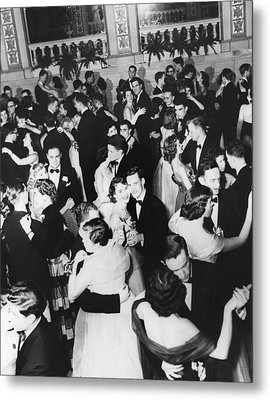 Barnard College Prom Metal Print by Underwood Archives