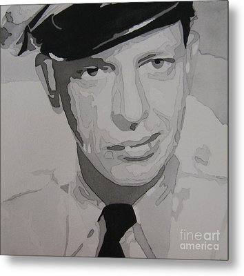 Barney Fife Contrast Metal Print by Jules Wagner