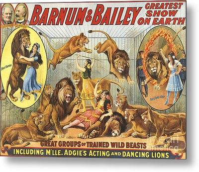 Barnum & Bailey�s  1915 1910s Usa Metal Print by The Advertising Archives