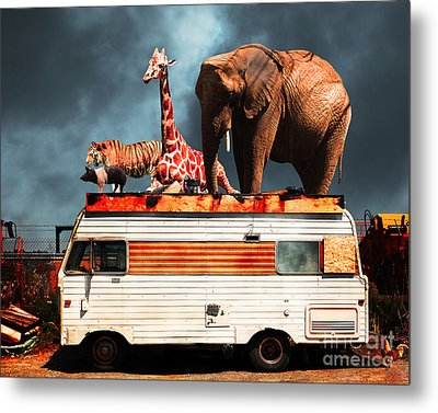 Barnum And Bailey Goes On A Road Trip 5d22705 Metal Print by Wingsdomain Art and Photography