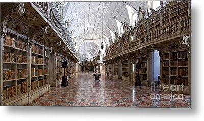 Baroque Library  Metal Print by Jose Elias - Sofia Pereira