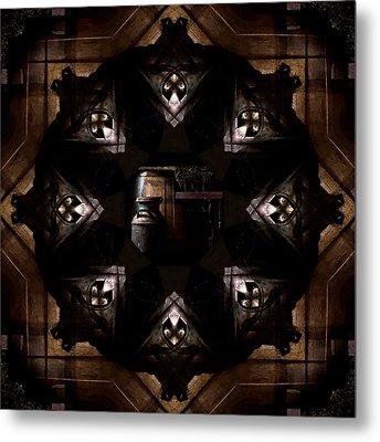 Barrels In The Barn Kaleidoscope Metal Print by Jim Finch