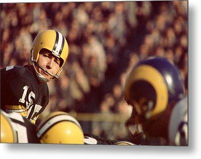 Bart Starr Looks  Metal Print by Retro Images Archive