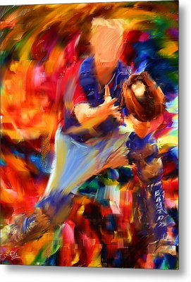 Baseball II Metal Print by Lourry Legarde