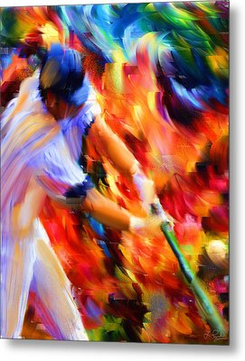 Baseball IIi Metal Print by Lourry Legarde