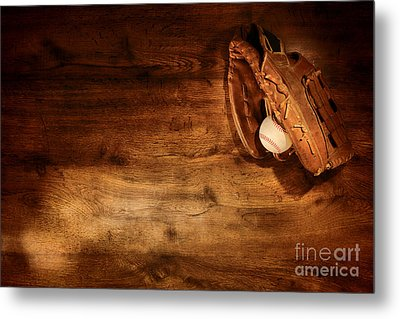 Baseball Metal Print by Olivier Le Queinec