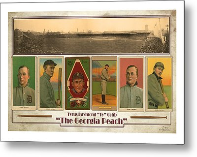 Baseball Player Ty Cobb Metal Print by Craig Tinder