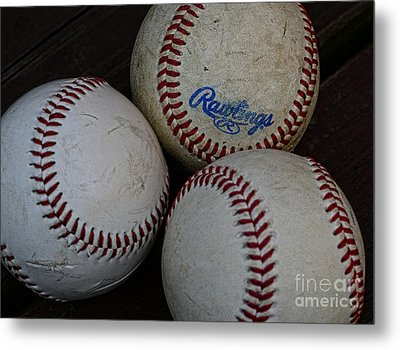 Baseball - The American Pastime Metal Print by Paul Ward