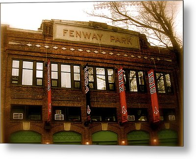 Baseballs Classic  V Bostons Fenway Park Metal Print by Iconic Images Art Gallery David Pucciarelli