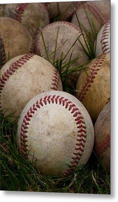 Baseballs Metal Print by David Patterson