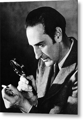 Basil Rathbone In Sherlock Holmes And The Voice Of Terror  Metal Print by Silver Screen