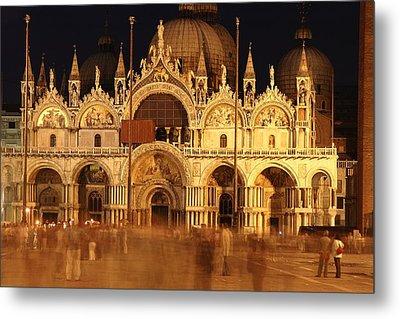 Basilica Di San Marco Metal Print by George Buxbaum