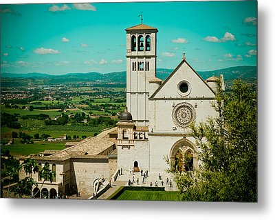 Basilica Of San Francesco Assisi  Metal Print by Raimond Klavins