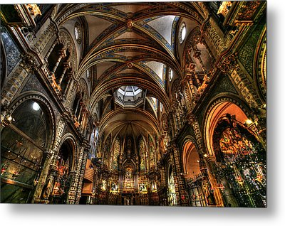 Basilica The Montserrat Metal Print by Isaac Silman