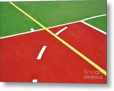 Basketball Court Metal Print by Luis Alvarenga