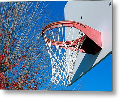 Basketball Net Metal Print by Valentino Visentini