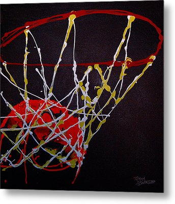 Basketball Metal Print by Tracey Bautista