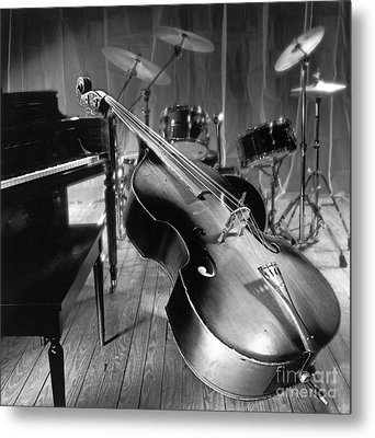Bass Fiddle Metal Print by Tony Cordoza