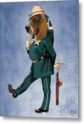 Basset Hound Policeman Metal Print by Kelly McLaughlan