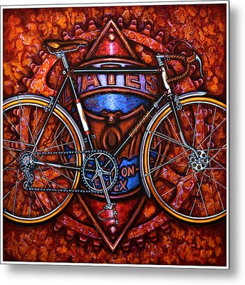 Bates Bicycle Metal Print by Mark Howard Jones