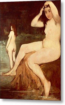 Bathers On Seine Metal Print by Edouard Manet