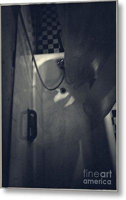 Bathtub In A Period Bathroom Metal Print by Edward Fielding