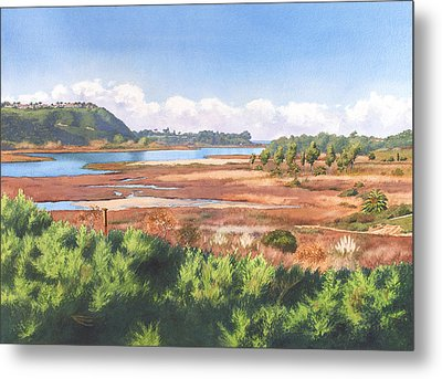 Batiquitos Lagoon Carlsbad California Metal Print by Mary Helmreich