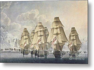 Battle Of Trafalgar Metal Print by Robert Dodd