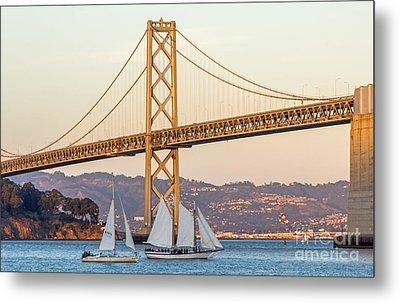 Bay Bridge Gold Metal Print by Kate Brown