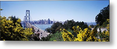 Bay Bridge In San Francisco, San Metal Print by Panoramic Images