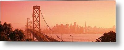 Bay Bridge, Skyline, City, San Metal Print by Panoramic Images