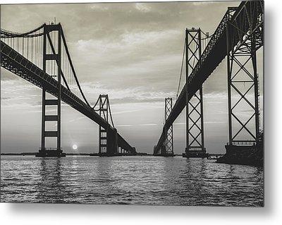 Bay Bridge Strong Metal Print by Jennifer Casey