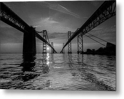 Bay Bridge Strength Metal Print by Jennifer Casey