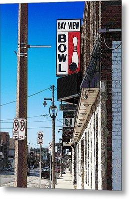 Bay View Bowl Metal Print by David Blank