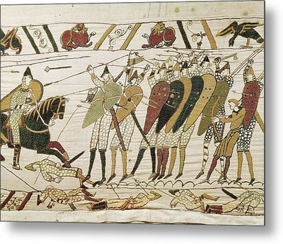 Bayeux Tapestry. 1066-1077. Tapestry Metal Print by Everett