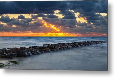 Bayside Sunset Metal Print by Bill Wakeley