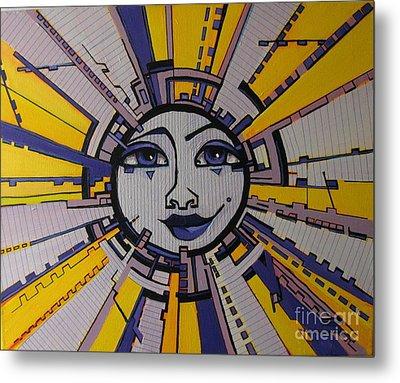 Bazinga - Sun Metal Print by Grace Liberator