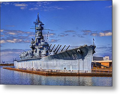Bb-60 Uss Alabama Metal Print by Barry Jones