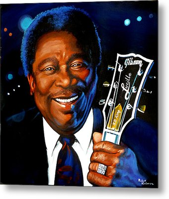Bb King Painting Metal Print by Robert Korhonen