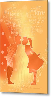 Be My Valentine Metal Print by Gayle Odsather