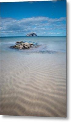 Beach At Bass Rock Metal Print by Keith Thorburn LRPS
