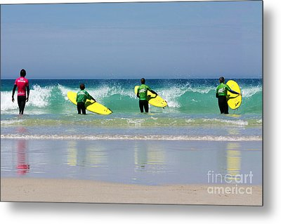 Beach Boys Go Surfing Metal Print by Terri Waters