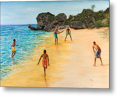 Beach Cricket Metal Print by Victor Collector