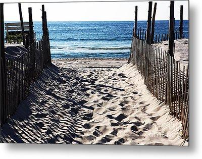 Beach Entry Metal Print by John Rizzuto