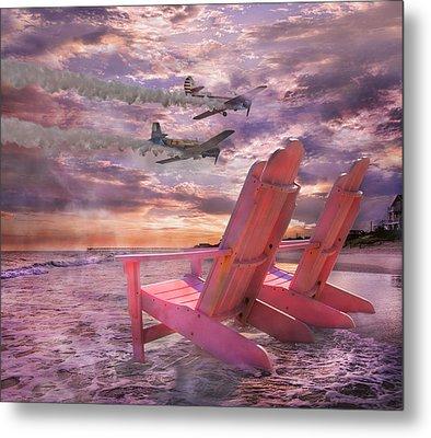Beach Flight Metal Print by Betsy C Knapp