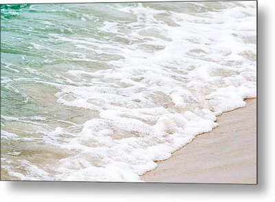 Beach Foam Metal Print by Shelby  Young