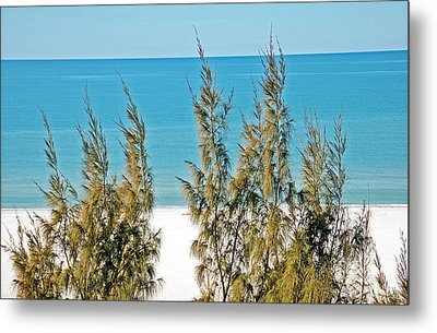 Beach Front View Metal Print by Aimee L Maher Photography and Art Visit ALMGallerydotcom