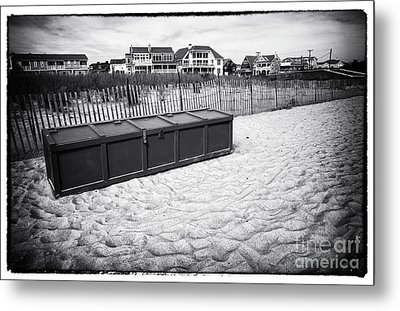 Beach Locker Metal Print by John Rizzuto