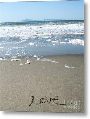 Beach Love Metal Print by Linda Woods