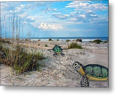Beach Pals Metal Print by Betsy C Knapp